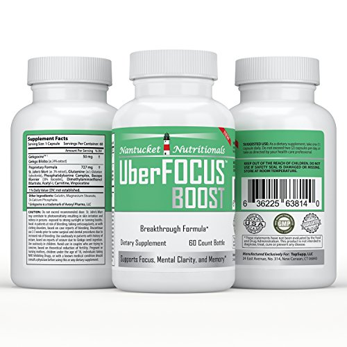 #1 All-Natural Nootropic Stack - Brain Booster and Enhancer to Improve Focus, Memory, and Mental Clarity | Super Ginkgo Biloba complex with St. Johns Wort & L-Glutamine | Moneyback Guarantee (60 cap/bottle), boost your brain power TODAY! (Crystal Tomato Supplement compare prices)