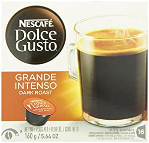 Nescafe Dolce Gusto for Nescafe Dolce Gusto Brewers, Dark Roast, 16 Count (Pack of 3)