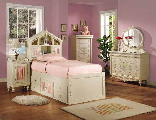 Cheap KIDS TWIN SIZE BEDROOM COLLECTION DOLL HOUSE 6 PIECE SET (B008W1CSBI)
