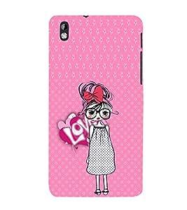 EPICCASE Nerdy Girl Mobile Back Case Cover For HTC Desire 816 (Designer Case)