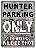Hunter Parking Custom Parking Sign Metal Sign from Redeye Laserworks