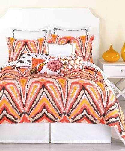 trina-turk-3-piece-peacock-punch-comforter-set-queen-orange-by-trina-turk