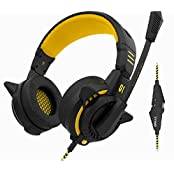 SROCKER G1 Over-ear Stereo Gaming Headphones Surround Sound Computer In-line Control Headset With Mic And Dual...