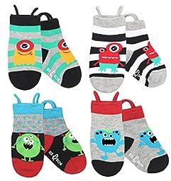 Ez Sox Kids Animal Socks (small, Monsters)