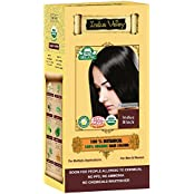 INDUS VALLEY Certified ORGANIC Indus Black Hair Color (Hypoallergenic, For Beard & Moustaches)