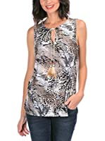 Never Paris Top Mona (Taupe / Negro)