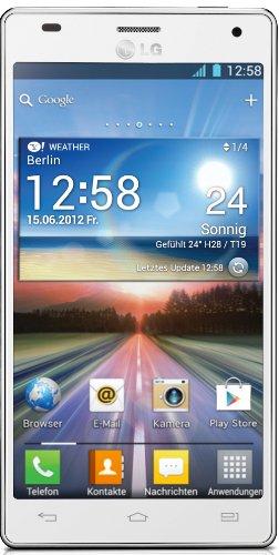 LG LG P880 Optimus 4X HD Smartphone (11,9 cm (4,7 Zoll) Touchscreen, 8 Megapixel Kamera, 1,5GHz, NFC, WiFi, Android 4.0) weiß