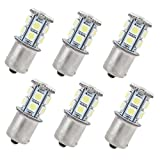HAMIST 1156 Ba15s 13 LED SMD 5050 Light White (Pack of 6)