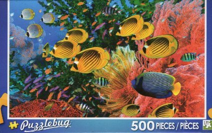 Puzzlebug 500 Piece Puzzle ~ Colorful Reef Fishes - 1
