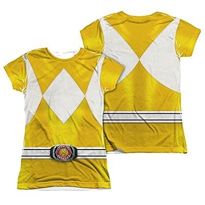 Power Rangers Yellow Ranger Costume Junior Fit Front/Back T-Shirt
