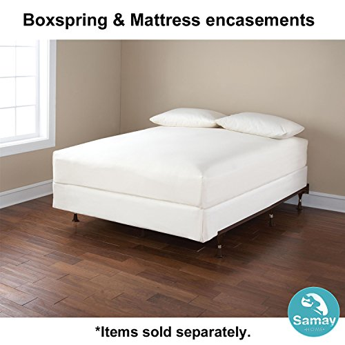 samay zippered waterproof bed bug proof box spring encasement cover full size 55 x 75. Black Bedroom Furniture Sets. Home Design Ideas