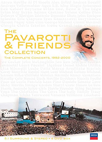 DVD : Luciano Pavarotti - Pavarotti & Friends Collection (4 Disc)