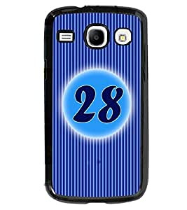 Fuson 2D Printed Numerology Designer back case cover for Samsung Galaxy Core I8262 - D4248
