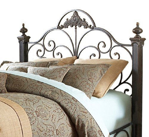 Fashion Bed Group Baroque Bed, Gilded Slate Finish, Queen