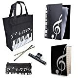 Music Art Students Study Set, Piano Book Bag, Files Folder, Music Staff Paper, Pen Holder, Pencils, Book Clip, STUDENTS MUST HAVE SUPPLIES