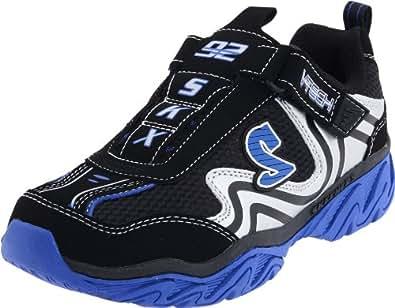 Skechers RaggedSomber 95422L, Jungen Sneaker, Schwarz (BKRY), EU 38
