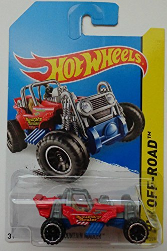 2014 Hot Wheels Hw Off-Road Mountain Mauler - Red [Ships in a Box!]