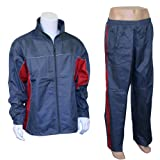 Mens Nylon Athletic Full Zip Mesh Lined Running Track Suit Set
