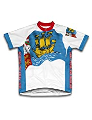 Saint Pierre And Miquelon Flag Short Sleeve Cycling Jersey for Women