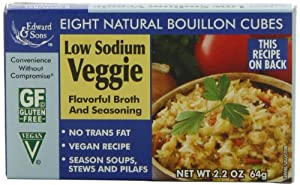 Edward & Sons Low Sodium Veggie Bouillon Cubes, 2.2-Ounce Boxes (Pack of 12)