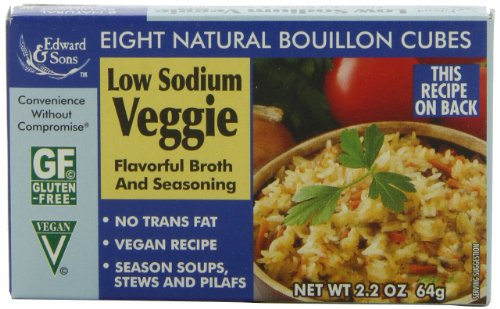 Edward & Sons Low Sodium Veggie Bouillon Cubes, 2.2-Ounce Boxes (Pack of 12) (Low Sodium Chicken Bouillon Cubes compare prices)