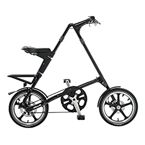 STRiDA LT Folding Bicycle, Black, 16-Inch
