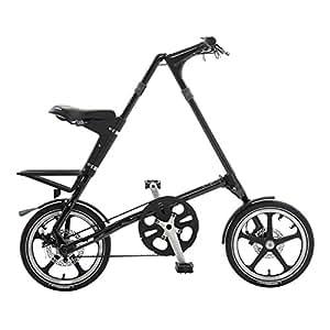 STRiDA LT Folding Bicycle, Black, 16-Inch