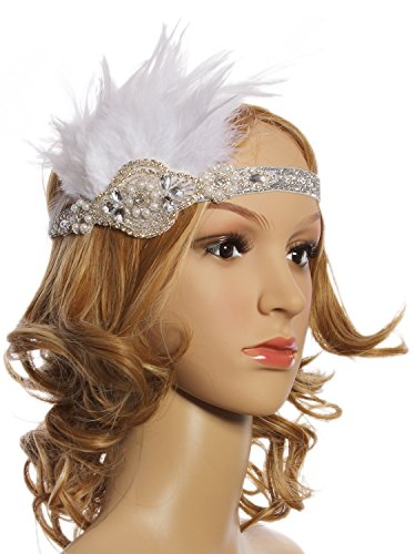 Vijiv-Vintage-White-Feather-Silver-Pearl-Headpiece-1920s-Flapper-Headband