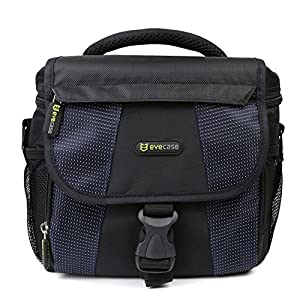 EVECASE Universal Blue DSLR Large Camera and Lens Carrying Pouch Nylon Bag/Case with Strap