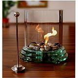 Tischfeuer Kamin Dekokamin für Bioalkohol Glasfeuer Glas, Terrassenofen und ca. 42 cm