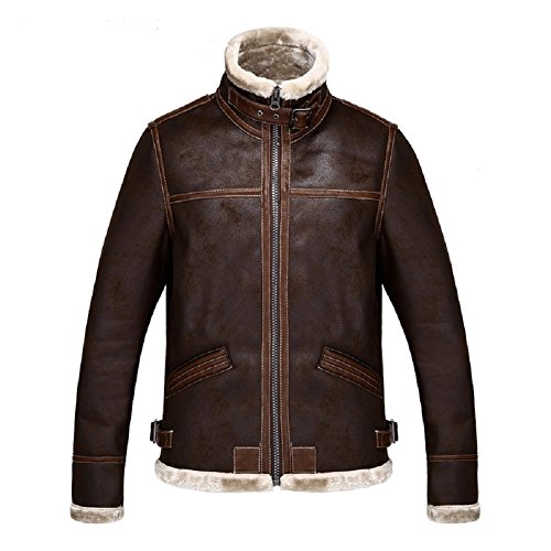 [Horries Resident Evil 4 Leon Kennedy Men's Pu Leather] (Leon Kennedy Costumes)