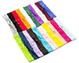 Lace Headbands - Baby Headbands - Interchangeable Headbands - 1 Inch Wide - 20 Piece Assortment
