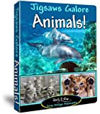 Jigsaws Galore Animals! Puzzle Game for Windows PC: Puzzle Themes Include Exotic Wildlife From Alligators to Zebras and Familiar Pets Like Cats, Dogs, Turtles, Squirrels, Deer, Fish, Insects Plus Much More