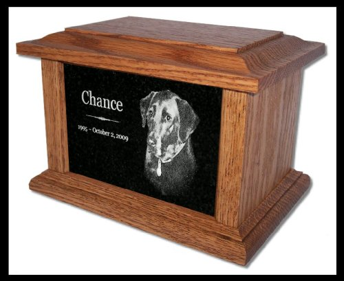 Pet Cremation Urn Memorial Custom Marker Dog Cat — for Pets up to 66 Lbs.