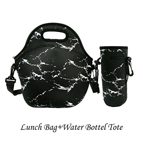 Amerzam-Neoprene-Lunch-BagsLunch-Boxes-Waterproof-Outdoor-Travel-Picnic-Lunch-Box-Bag-Tote-with-Zipper-and-Adjustable-Crossbody-Strap-for-Women-Men-Kids-Girls-Adults