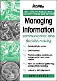 echange, troc  - Managing Information: Communication and Decision Making : An Activity Pack for Tutors and Trainers