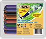 BIC Great Erase Grip Low Odor Dry Erase Marker, Fine Point, Assorted Colors - 30 Dry Erase Markers