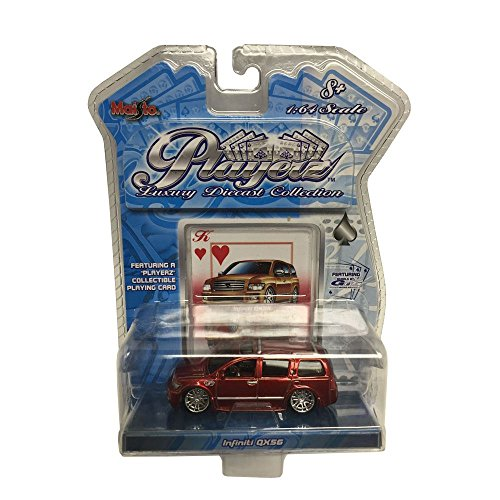 maisto-playerz-luxury-diecast-collection-164-scale-red-infiniti-qx56-car