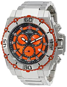 Swiss Precimax Men's SP13176 Tactical Pro Orange Dial Silver Stainless-Steel Band Watch