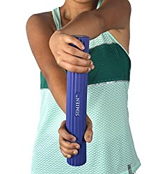 SIMIEN Rubber Flex Bar - 3 Resistance Levels In One - Tennis Elbow, Golfers Elbow, Elbow Tendonitis Pain Relief Therapy - Strengthen Grip, Hand, Wrist, Forearm, Shoulder - BONUS Full Exercise eBook