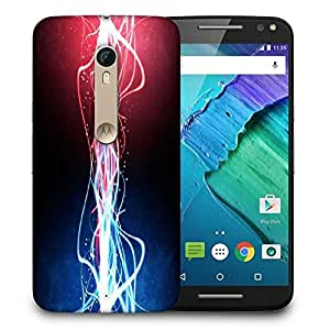 Snoogg Neon Multicolor Rays Printed Protective Phone Back Case Cover For Motorola X Style