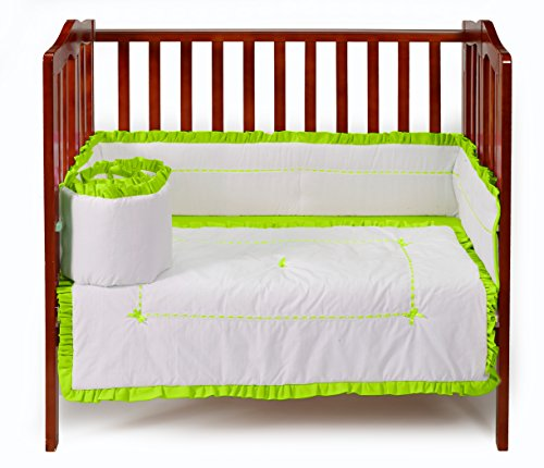Baby Doll Unique Port-a-Crib Bedding Set, Green Apple