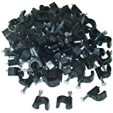 RG6 Cable Clip, Black (100 pieces per bag)