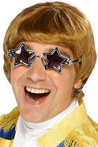 Smiffy's Men's 70's Star Man Wig and Glasses Set