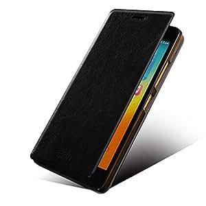 Mofi Premium Leather Flip Cover Case for Lenovo K3 Note - Black