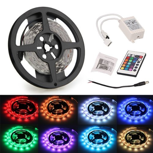 3M 90 SMD 5050 LED RGB Leiste Strip Band Streif RGB + 24 Taste Remote