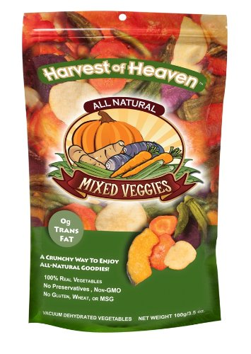 Harvest of Heaven Select Mixed Veggies Chips, 3.5-Ounce Bags (Pack of 6)