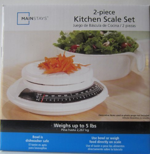 Mainstays 2-piece Kitchen Scale Set by Mainstay