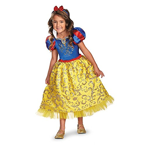 Baoer Disguise Disney`s Snow White Sparkle Deluxe Girls Costume 3T-4T One Color