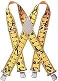 Custom LeatherCraft 110RUL Heavy Duty Tape Rule Elastic Suspenders